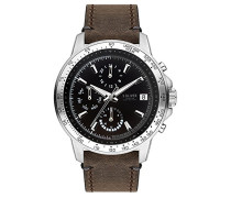 Multi Zifferblatt Quarz Uhr mit Leder Armband SO-3487-LM