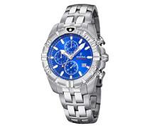 Erwachsene Chronograph Quarz Smart Watch Armbanduhr mit Edelstahl Armband F20355/1