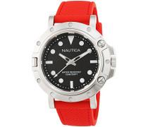 Analog Quarz Uhr mit Gummi Armband NAD12549G