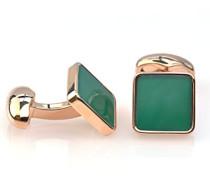 Metalllegierung Quadratschliff grün Agate