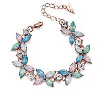 Armband Metalllegierung Marquiseschliff Pink/Rosa Autre Kristall