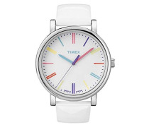 Armbanduhr Style Analog Leder weiß T2N791D7