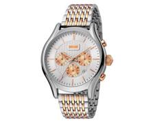 Chronograph Quarz Uhr mit Edelstahl Armband JC1G038M0105