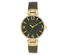Datum klassisch Quarz Uhr mit Leder Armband 10/N9168OLOL