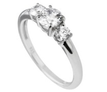 Ring Classic Zirkonia 925 Sterling Silber weiß