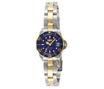 8942 Pro Diver Uhr Edelstahl Quarz blauen Zifferblat