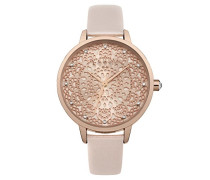 Datum klassisch Quarz Uhr mit PU Armband LP571