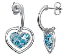 Ohrhänger 925 Sterling Silber rhodiniert Glas Zirkonia Le Coeur Brillant blau S.PCER90229B000