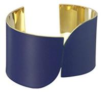 Manschetten Armbänder Vergoldet - CUFF #3 BLUE
