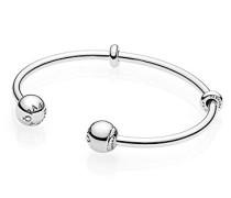 Damen Silber Armreif Logo 596477-16