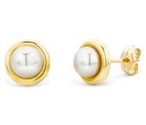 9 kt (375) Yellow Gold Cultured Pearl Stud Earrings for Women