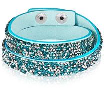 Armband Edelstahl Stoff Glas mehrfarbig 42 cm - 609170422