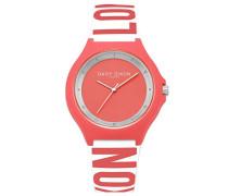 Damen Analog Quarz Uhr mit Silikon Armband DD040O