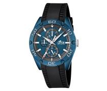 Armbanduhr mit Blau Zifferblatt Analog Display und schwarz Gummiband 18183/1