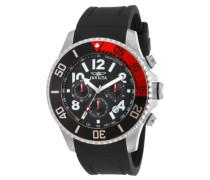 15145 Pro Diver Uhr Edelstahl Quarz schwarzen Zifferblat