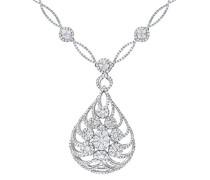 Damen-Halskette 18k Weißgold 42 cm PNE20012 18KW