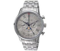 Erwachsene Mondphase Quarz Smart Watch Armbanduhr mit Edelstahl Armband ES-0017-22