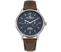 Datum klassisch Quarz Uhr mit Leder Armband WB017UBR