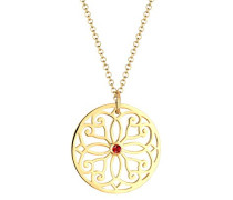 PREMIUM Halskette Ornament 925 Sterling Silber vergoldet Swarovski Kristalle 0112992216