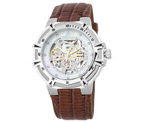 Skeleton Automatik Uhr mit Leder Armband BM235-105