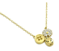 -MJ0070 Damen-Halskette Edelstahl, 42 cm