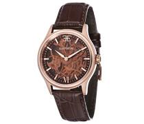 Bauer Shaddow ES-8061-04 mechanische Armbanduhr, braunes Zifferblatt mit Skelett-Anzeige