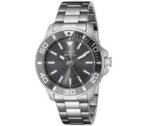 21377 Pro Diver Uhr Edelstahl Quarz grauen Zifferblat