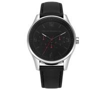 Multi Zifferblatt Quarz Uhr mit Leder Armband FC1307B