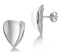 Ohrstecker Herz 925 Sterling-Silber matt und glanz MSM006E