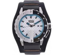 Herren-Armbanduhr Analog Quarz Leder 8500104
