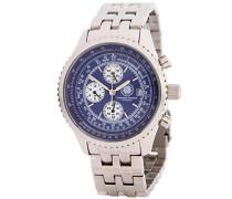 Armbanduhr Navigator Chronograph Quarz Edelstahl CD-NAVI-QZ-ST-STST-BL