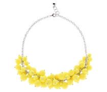Halskette Dyanie Perlen Gelb