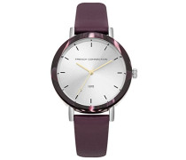 Datum klassisch Quarz Uhr mit Leder Armband FC1315V