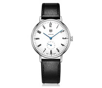 Analog Quarz Uhr mit Leder Armband DF-9001-03