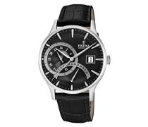 Analog Quarz Uhr mit Leder Armband F16983/4