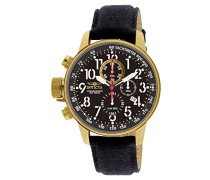 1515 I-Force Uhr Edelstahl Quarz schwarzen Zifferblat