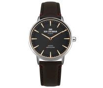 Datum klassisch Quarz Uhr mit Leder Armband WB020BR