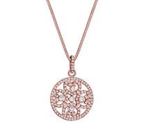 Premium Kette mit Anhänger Herz Ornament 925 Silber weiß Facettenschliff Swarovski Kristalle 45 cm 0101612417_45