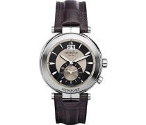 18466/48MA Armbanduhr Herren, Leder, Farbe: Braun