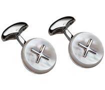 925 Sterling-Silber Silber Rundschliff weiß Nacre