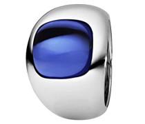Damen-Ring Edelstahl Quarz blau