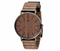 Analog Quarz Smart Watch Armbanduhr mit Holz Armband WW61001