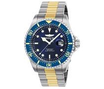 25716 Pro Diver Uhr Edelstahl Quarz blauen Zifferblat