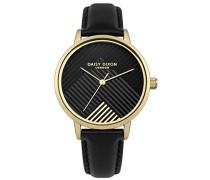 Datum klassisch Quarz Uhr mit PU Armband DD056BG