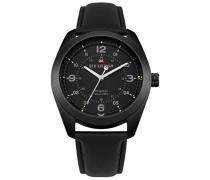 Datum klassisch Quarz Uhr mit Leder Armband WBS110BB