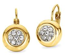 Ohrhänger gelbvergoldet veredelt mit Swarovski Kristallen 21 mm