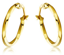 Ohrringe Gelbgold 18 Karat / 750 Gold Creolen