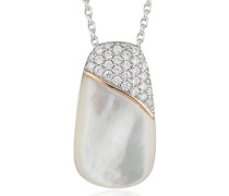 Halskette 925 Sterling Silber Perlmutt Zirkonia Lily 48.0 cm weiß JPNL90684A420