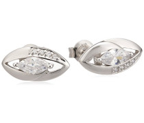 Basic Ohrstecker 925/- Sterling Silber Zirkonia weiß 360220535