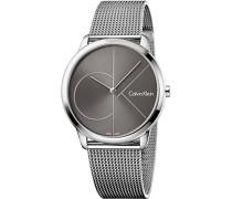 Analog Quarz Uhr mit Edelstahl Armband K3M21123